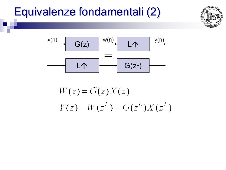 Equivalenze fondamentali (2)