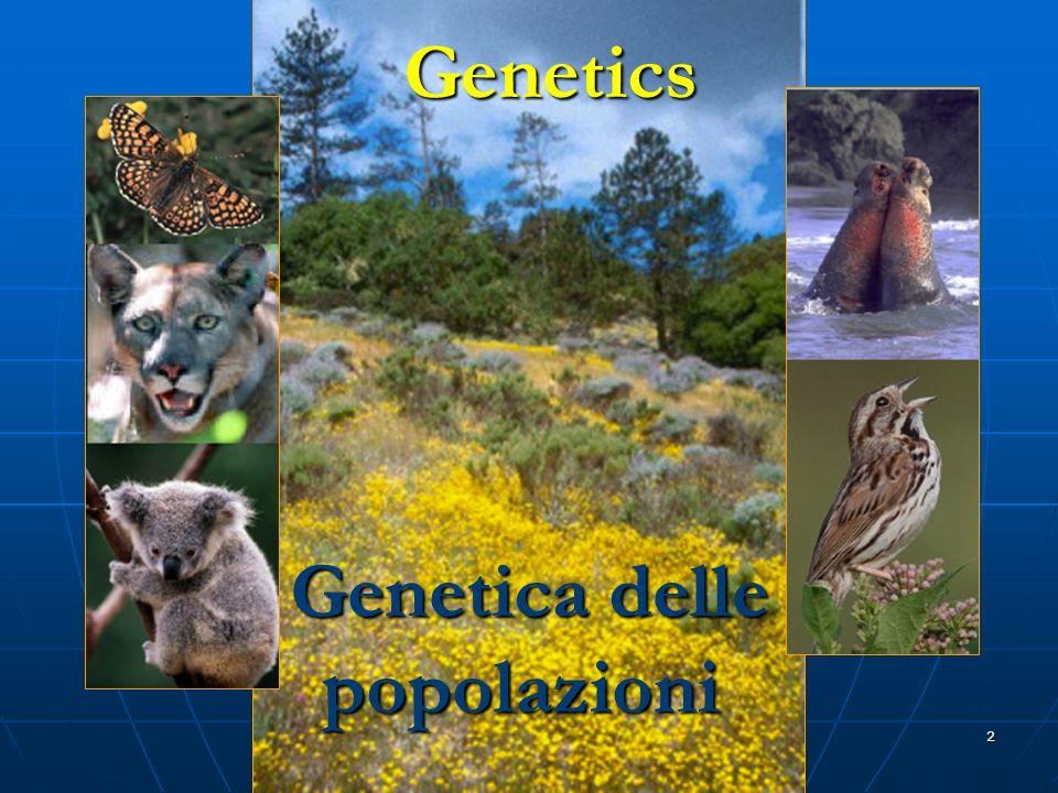 Genetics Genetica delle popolazioni