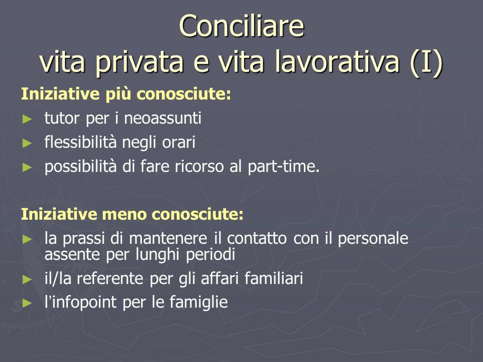 Conciliare vita privata e vita lavorativa (I)