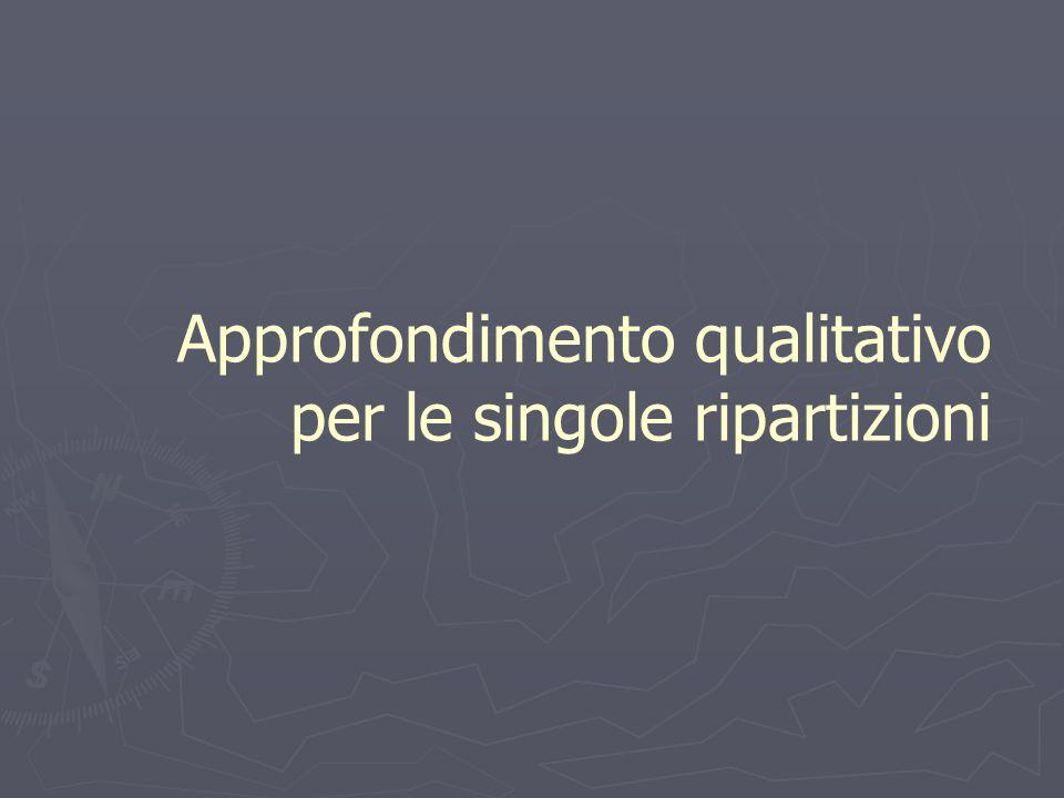 Approfondimento qualitativo per le singole ripartizioni