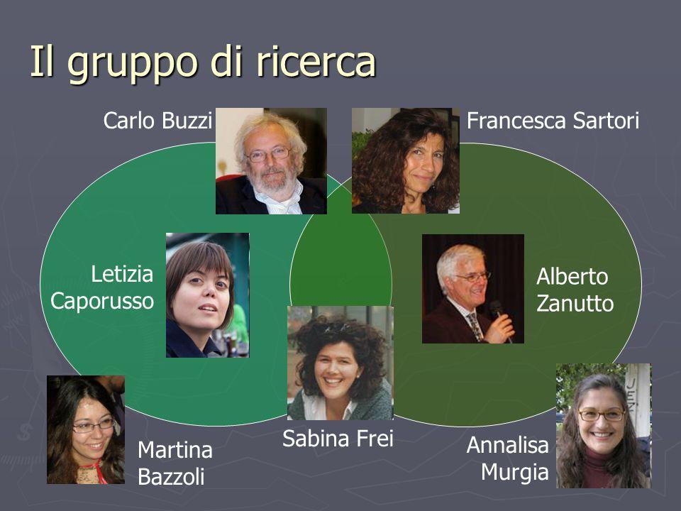 Il gruppo di ricerca Carlo Buzzi Francesca Sartori Letizia Caporusso
