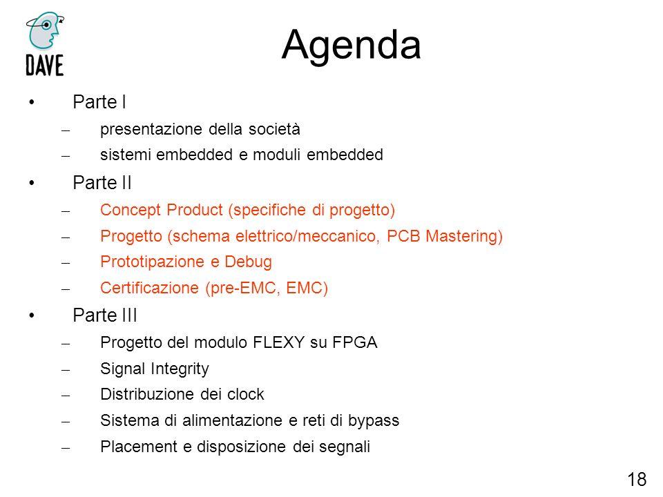 Agenda Parte I Parte II Parte III 18 presentazione della società