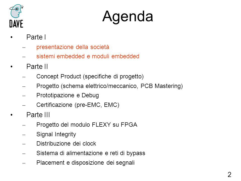 Agenda Parte I Parte II Parte III 2 presentazione della società