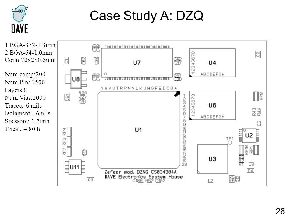Case Study A: DZQ 28 1 BGA-352-1.3mm 2 BGA-64-1.0mm Conn:70x2x0.6mm