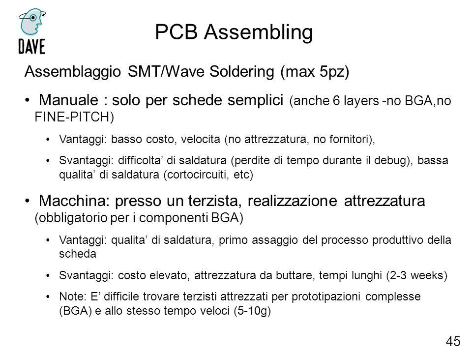 PCB Assembling Assemblaggio SMT/Wave Soldering (max 5pz)