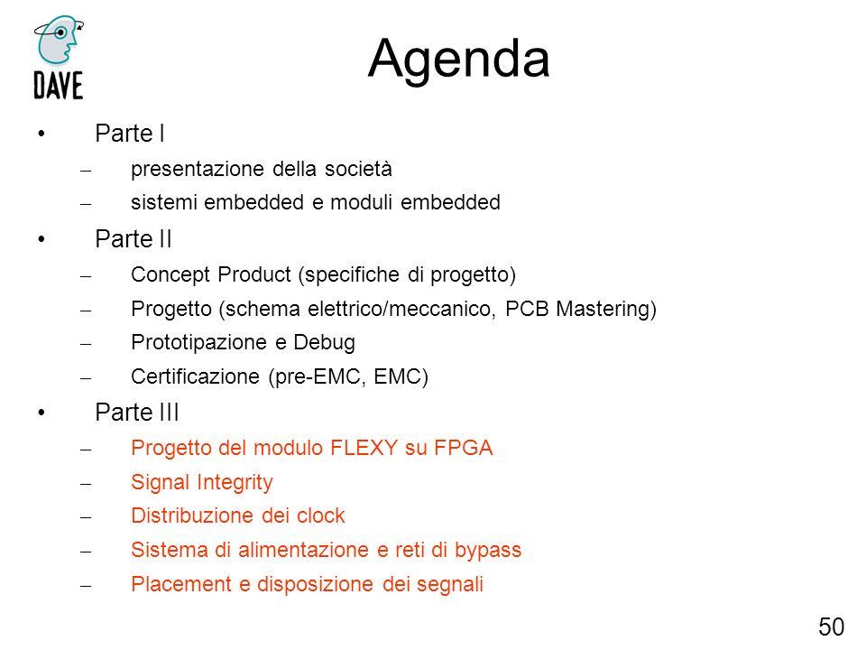 Agenda Parte I Parte II Parte III 50 presentazione della società