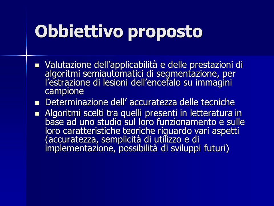 Obbiettivo proposto