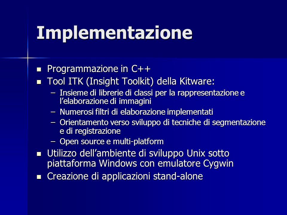 Implementazione Programmazione in C++