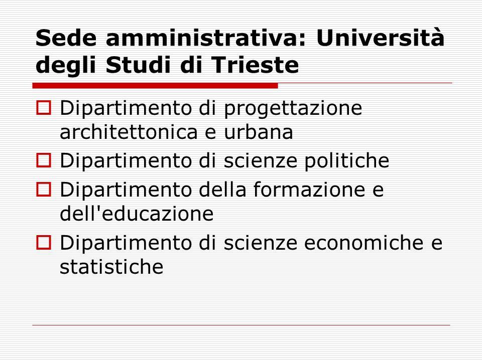 Sede amministrativa: Università degli Studi di Trieste