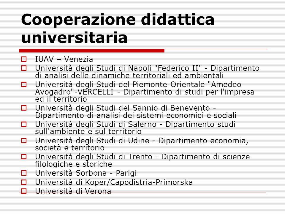 Cooperazione didattica universitaria