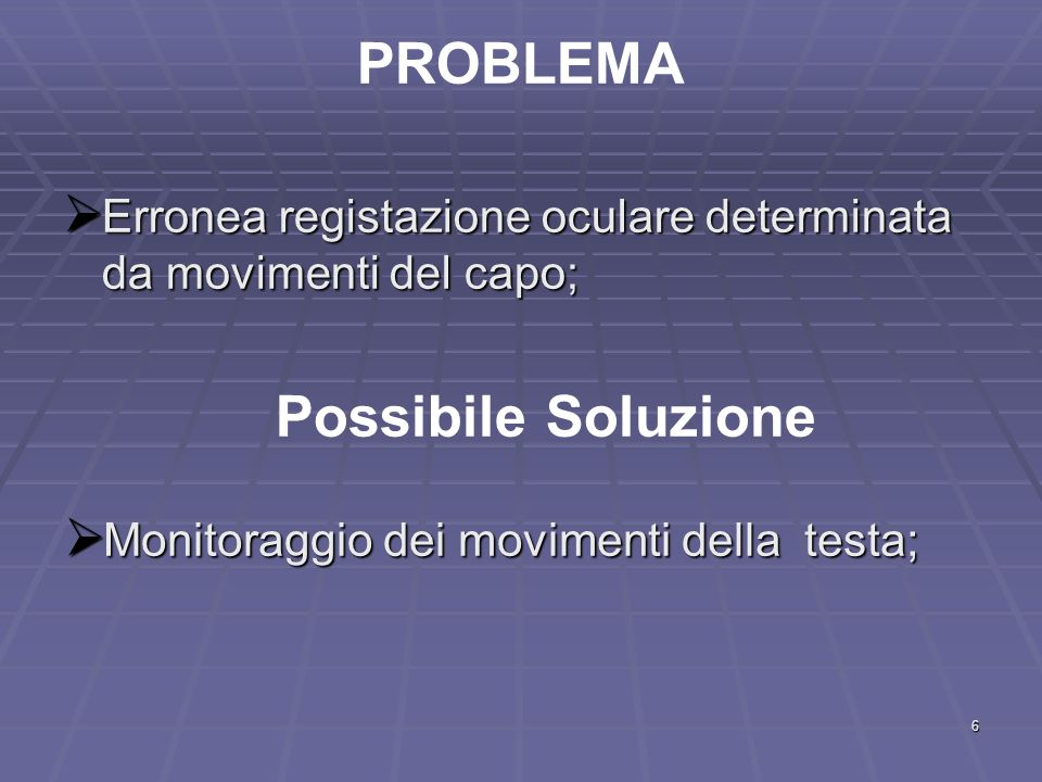 PROBLEMA Possibile Soluzione