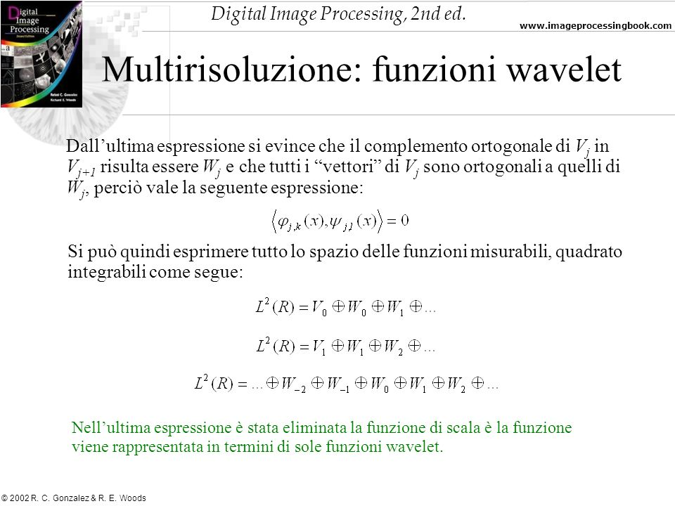 Multirisoluzione: funzioni wavelet
