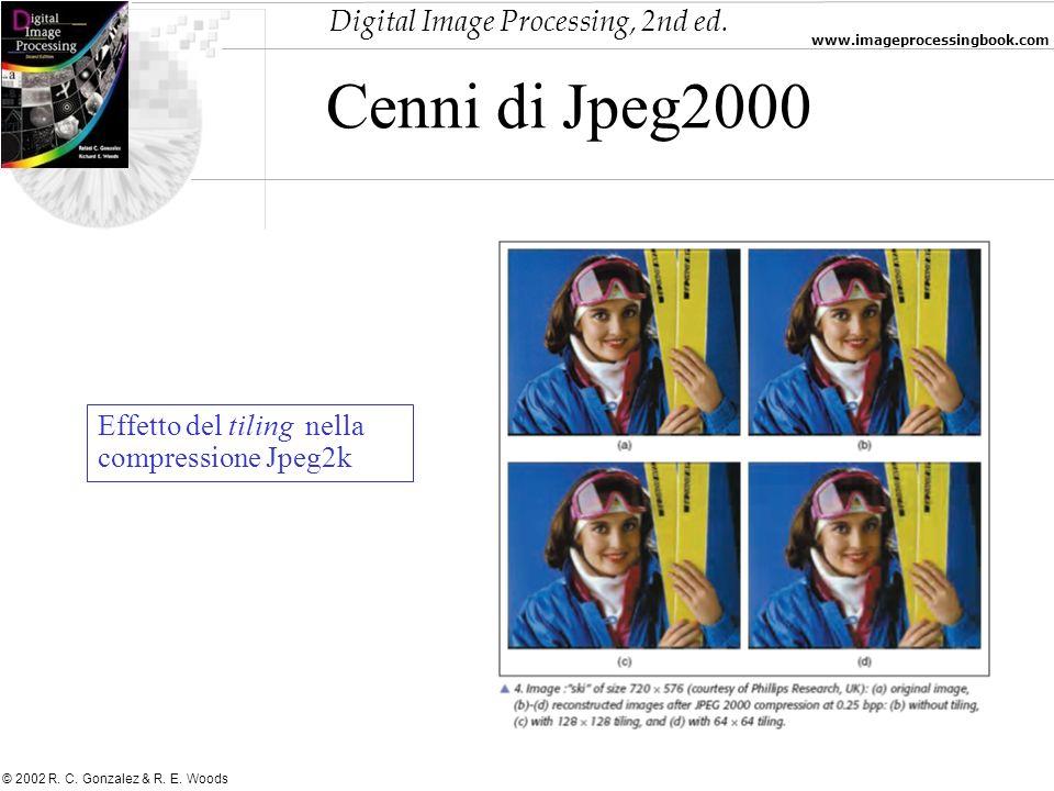 Cenni di Jpeg2000 Effetto del tiling nella compressione Jpeg2k