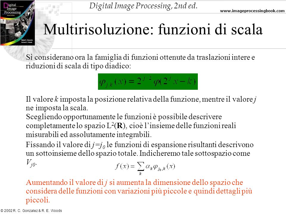 Multirisoluzione: funzioni di scala