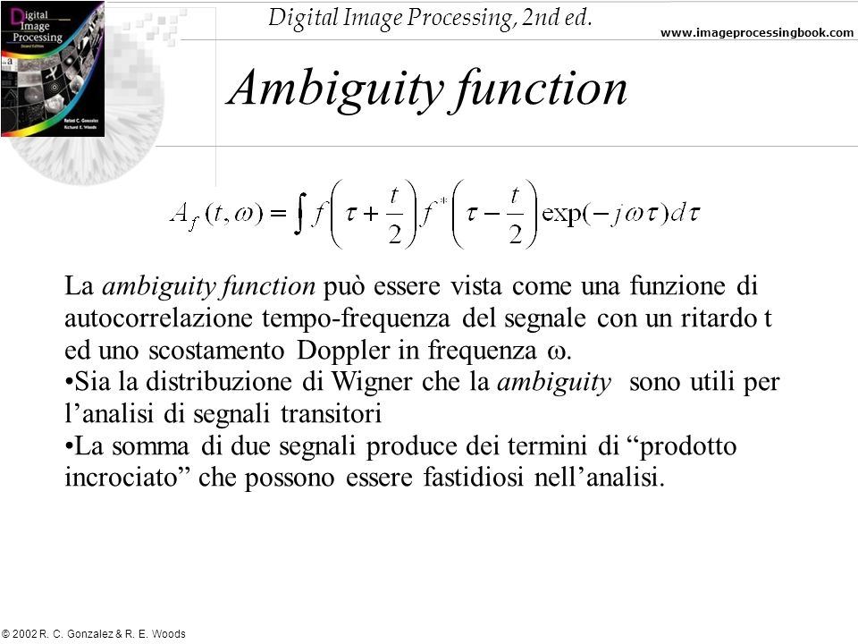 Ambiguity function