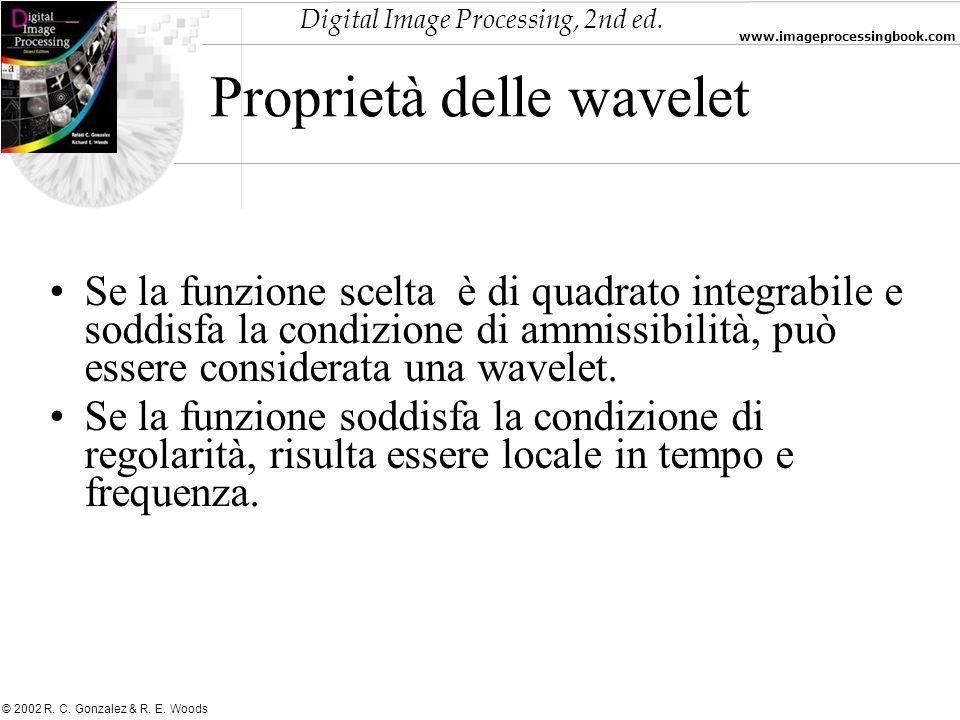Proprietà delle wavelet