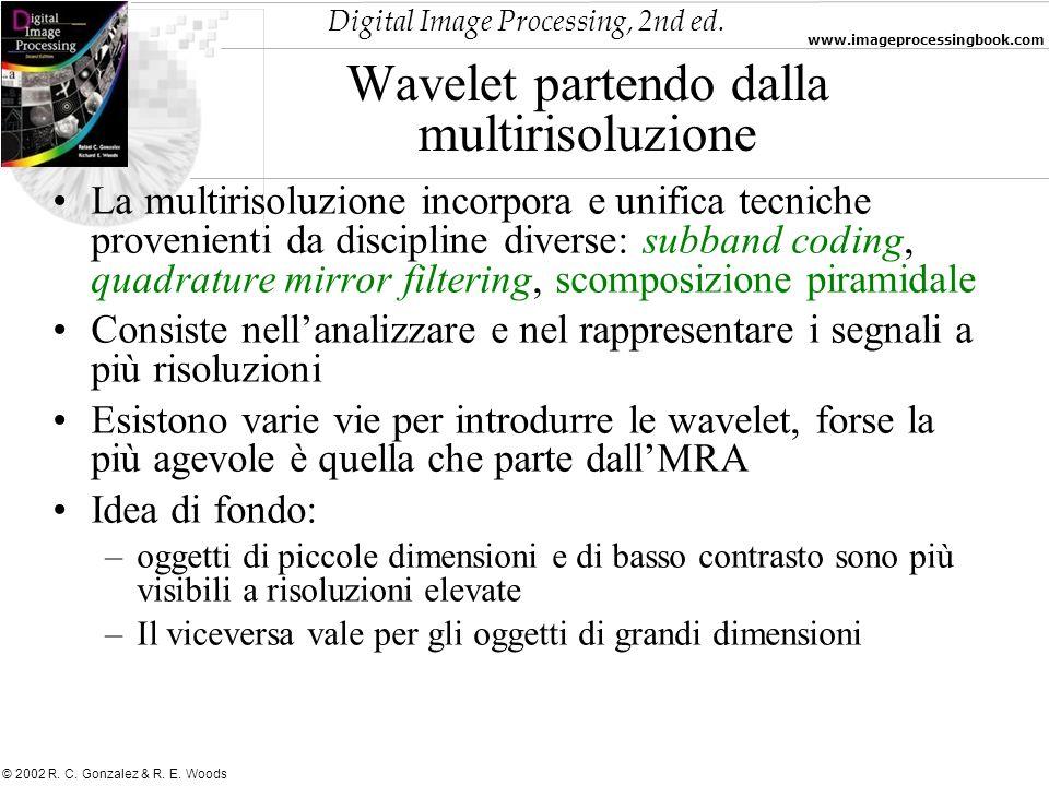 Wavelet partendo dalla multirisoluzione