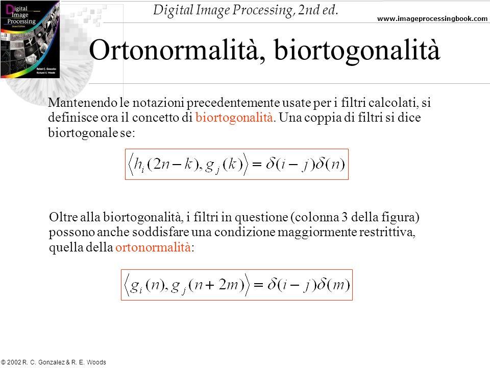 Ortonormalità, biortogonalità