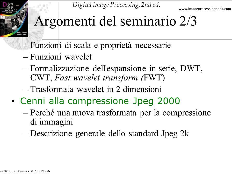 Argomenti del seminario 2/3