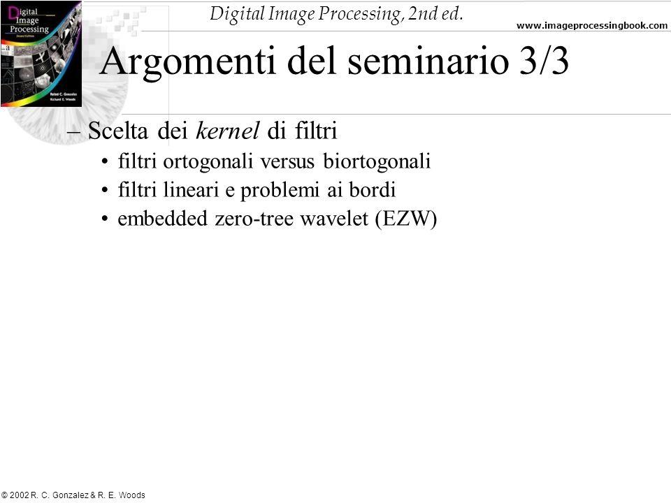 Argomenti del seminario 3/3