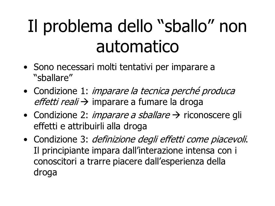 Il problema dello sballo non automatico