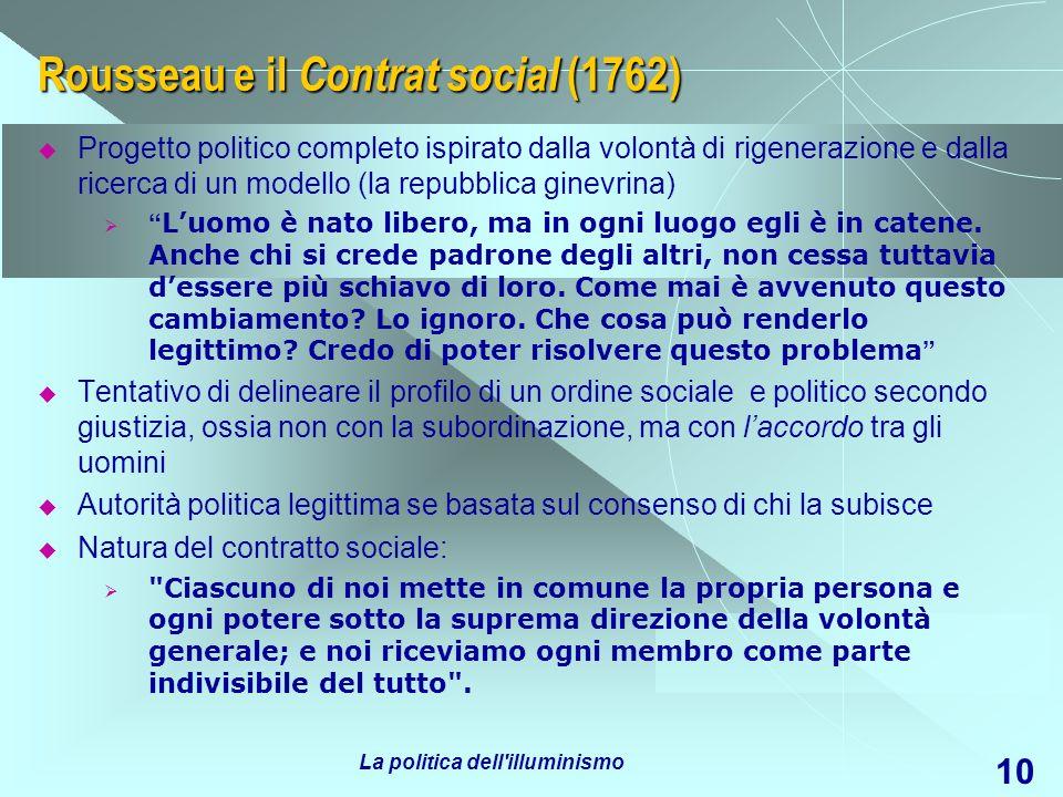 Rousseau e il Contrat social (1762)