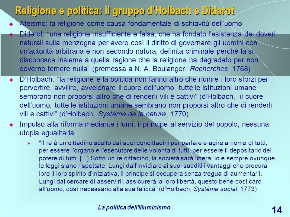 Religione e politica: il gruppo d'Holbach e Diderot