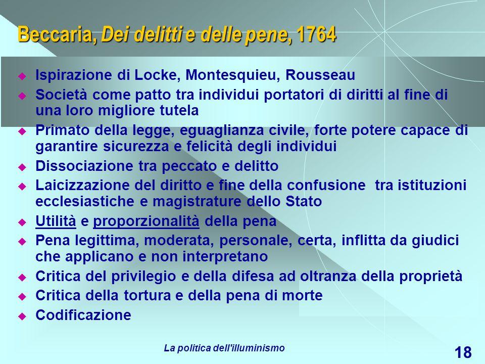 Beccaria, Dei delitti e delle pene, 1764