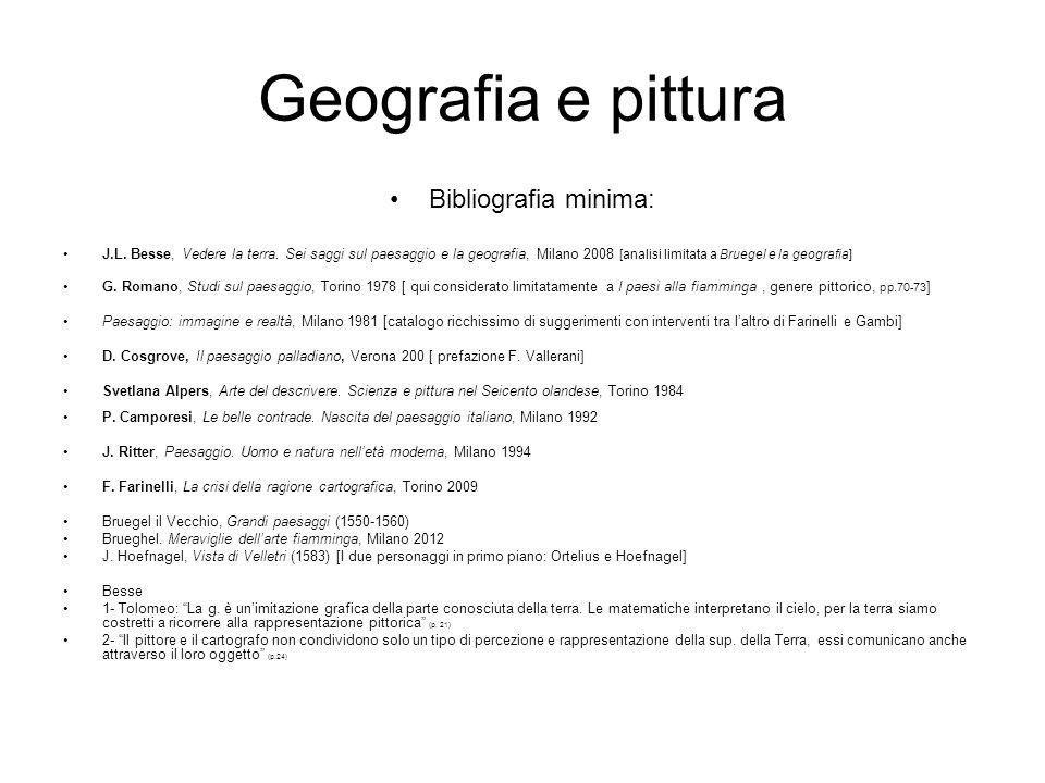Geografia e pittura Bibliografia minima: