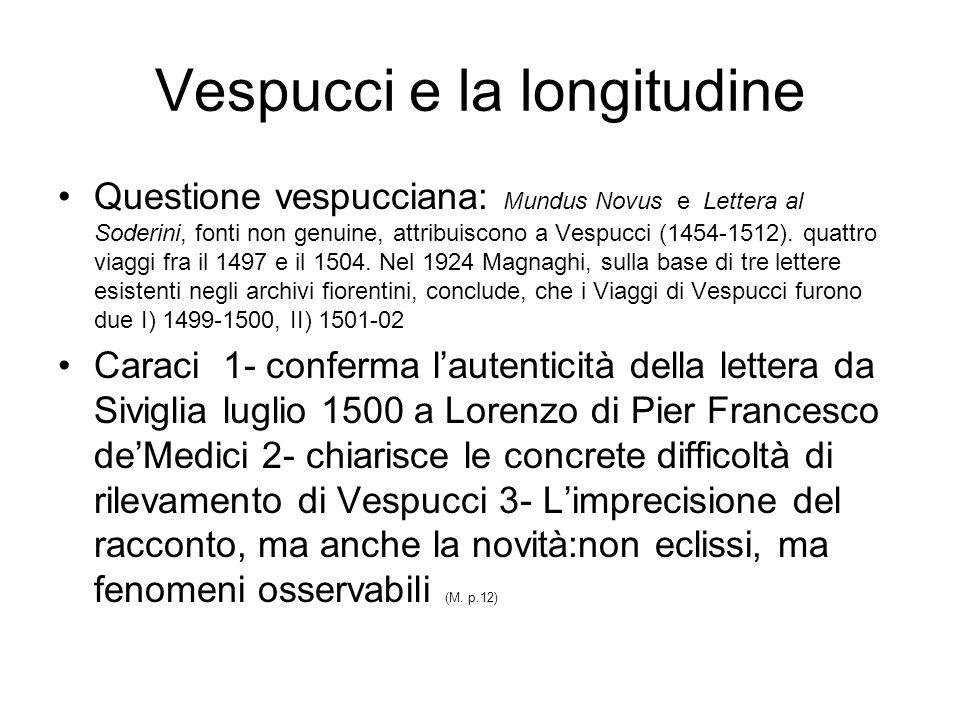 Vespucci e la longitudine