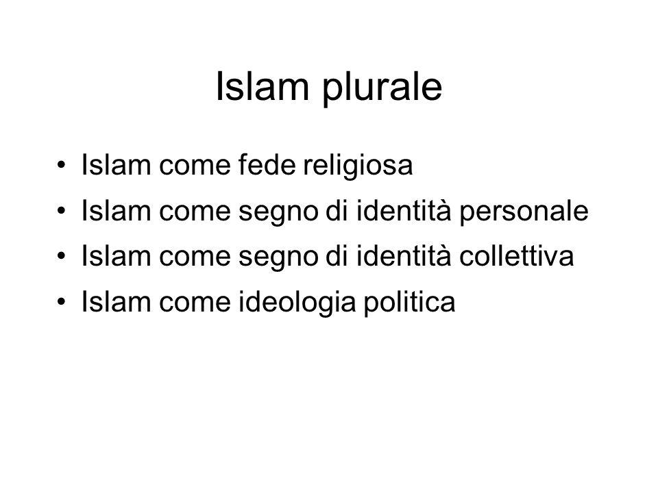 Islam plurale Islam come fede religiosa