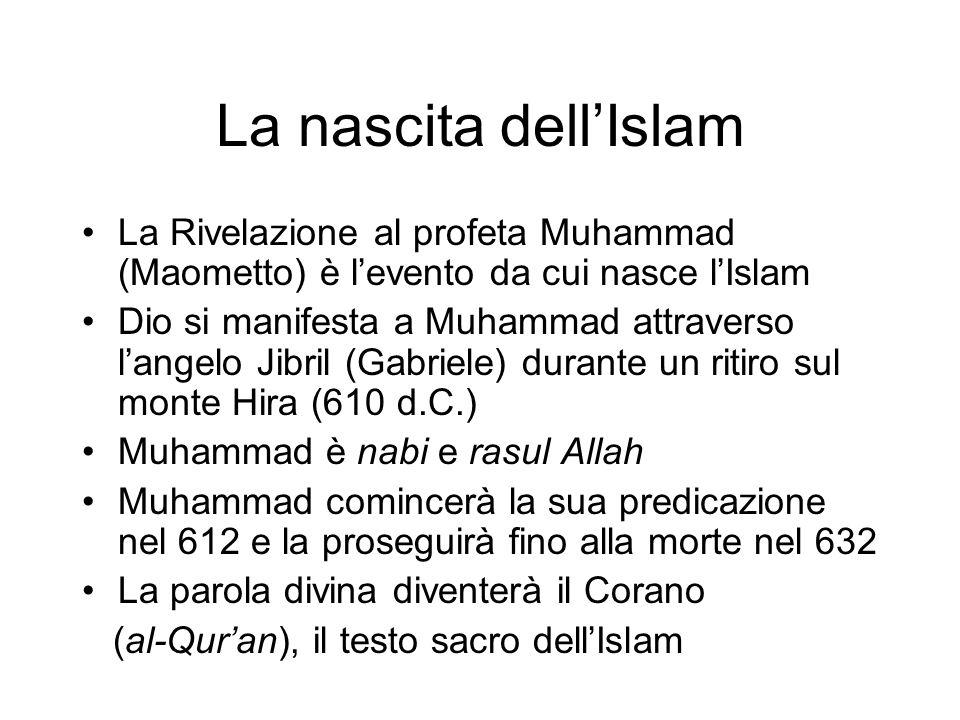 La nascita dell'Islam La Rivelazione al profeta Muhammad (Maometto) è l'evento da cui nasce l'Islam.