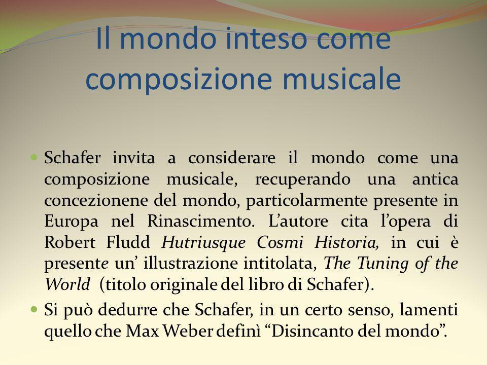 Il mondo inteso come composizione musicale