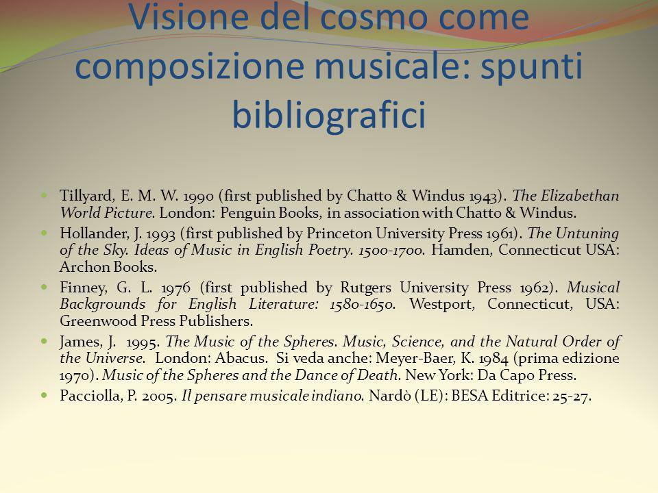Visione del cosmo come composizione musicale: spunti bibliografici