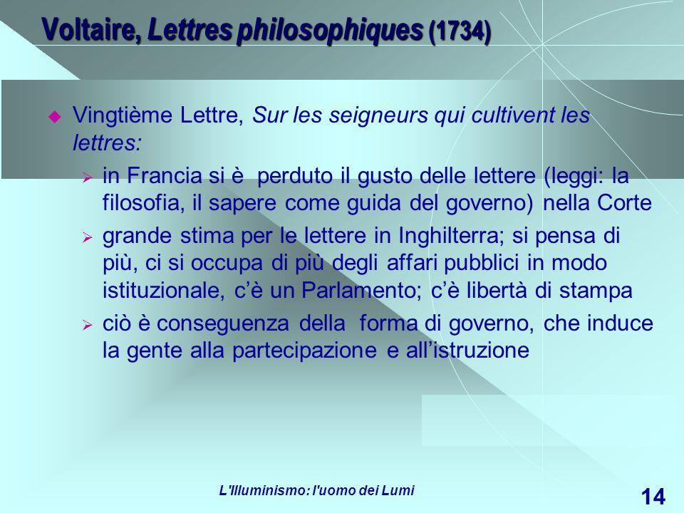 Voltaire, Lettres philosophiques (1734)