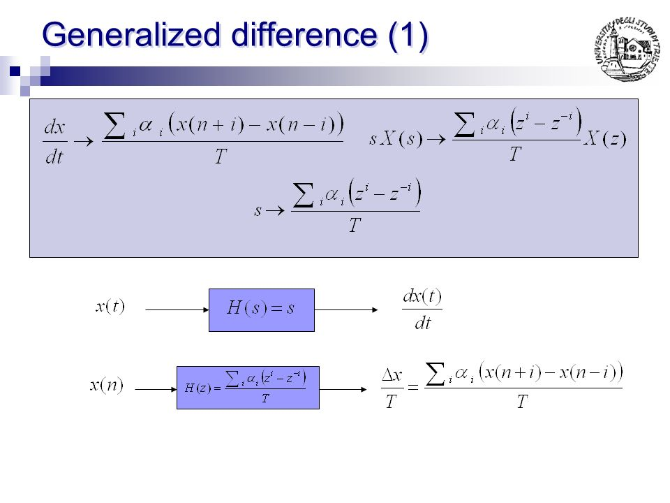 Generalized difference (1)