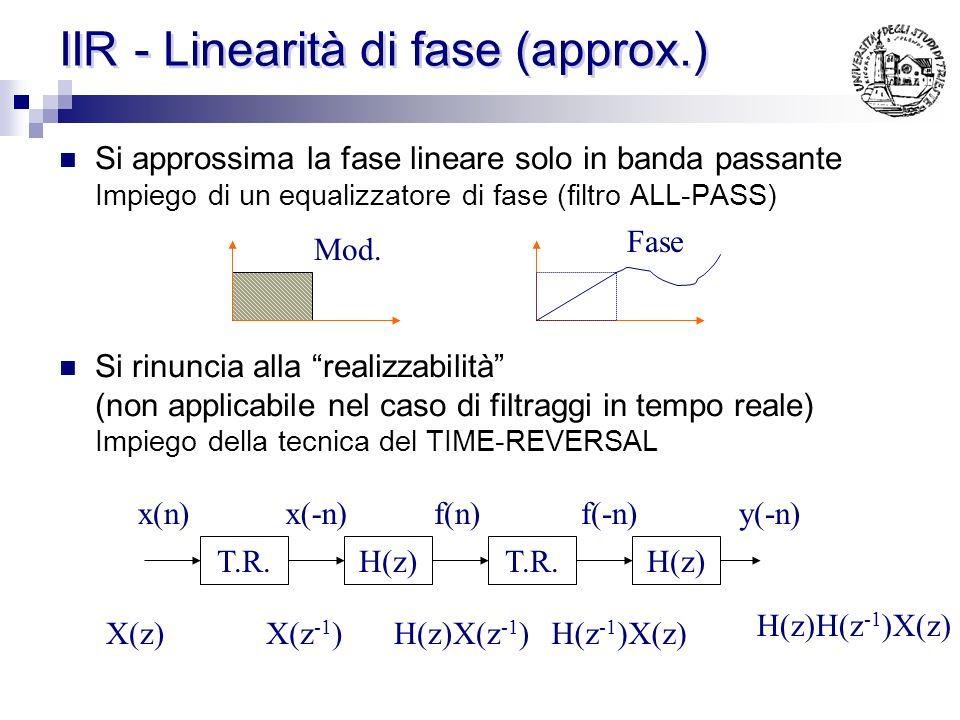 IIR - Linearità di fase (approx.)