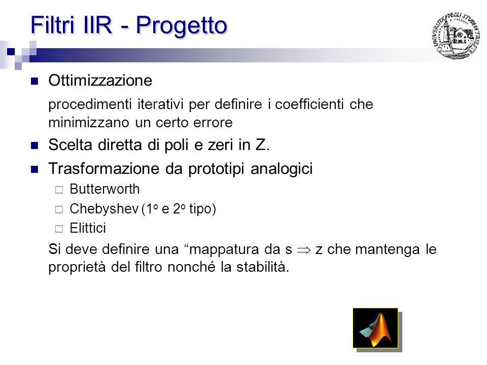Filtri IIR - Progetto Ottimizzazione