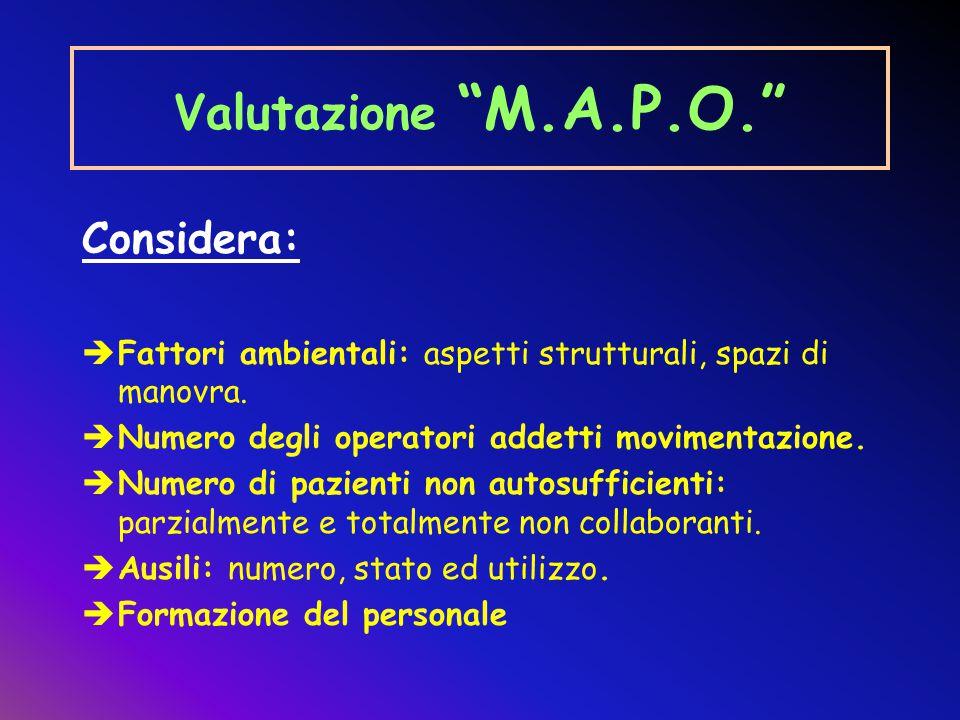 Valutazione M.A.P.O. Considera: