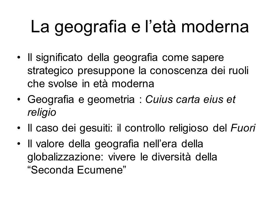 La geografia e l'età moderna
