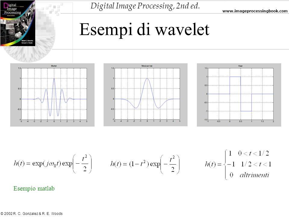 Esempi di wavelet Esempio matlab