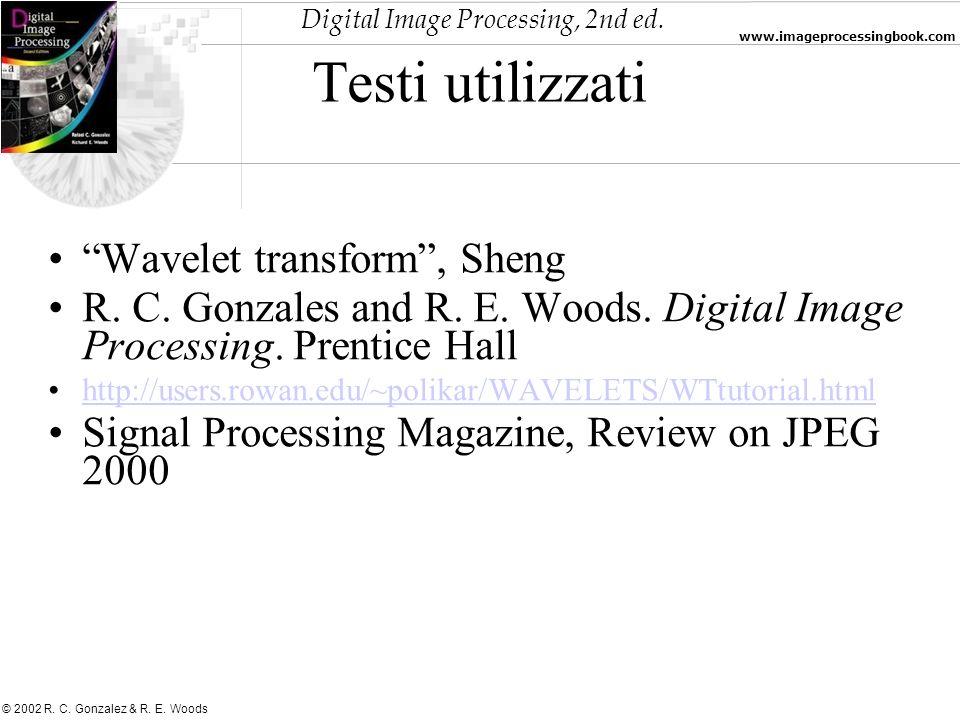 Testi utilizzati Wavelet transform , Sheng