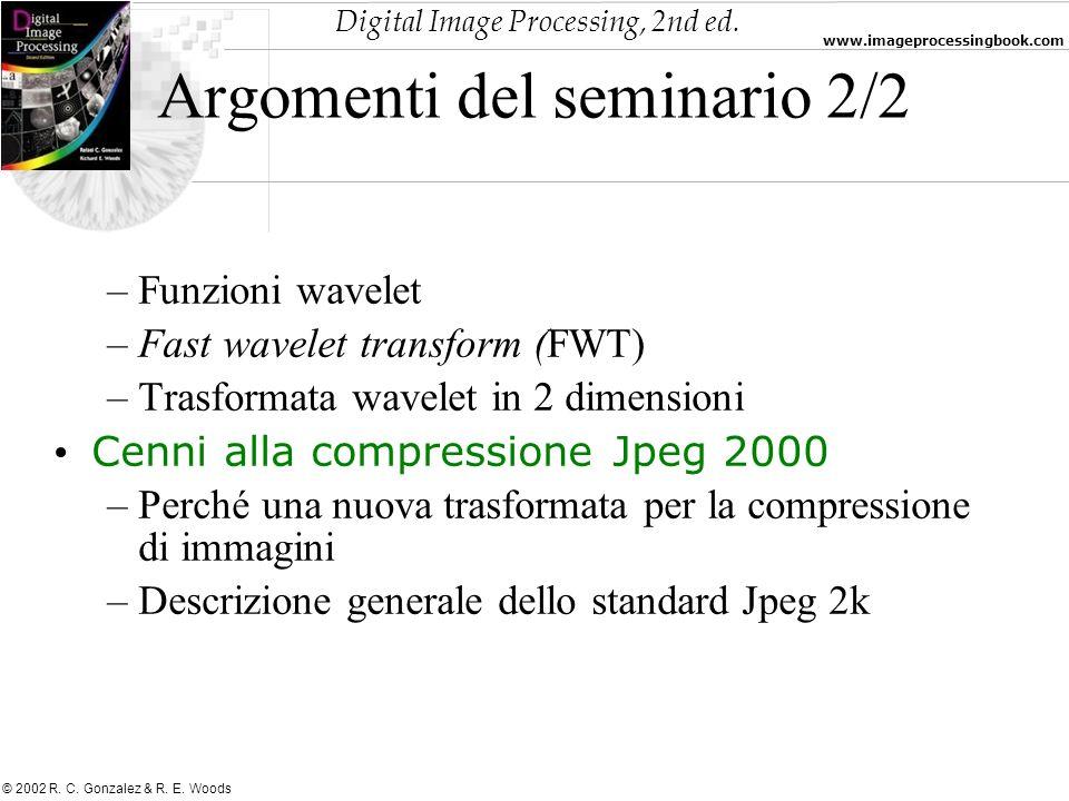 Argomenti del seminario 2/2