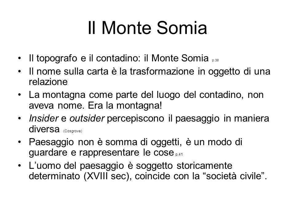 Il Monte Somia Il topografo e il contadino: il Monte Somia p.38