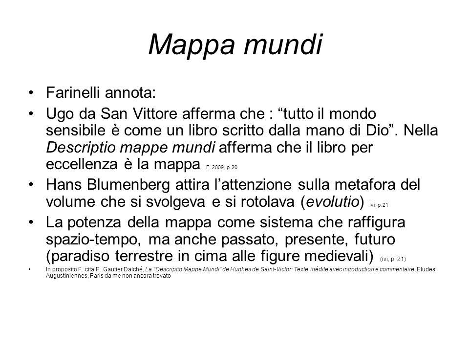 Mappa mundi Farinelli annota: