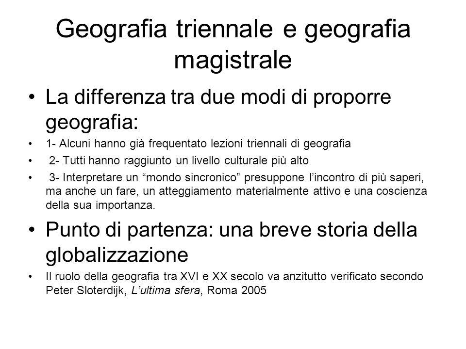 Geografia triennale e geografia magistrale