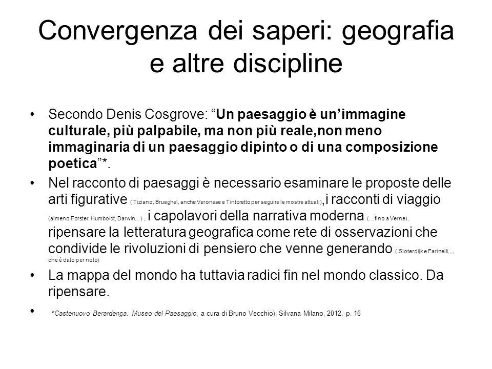 Convergenza dei saperi: geografia e altre discipline