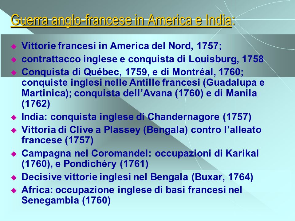 Guerra anglo-francese in America e India: