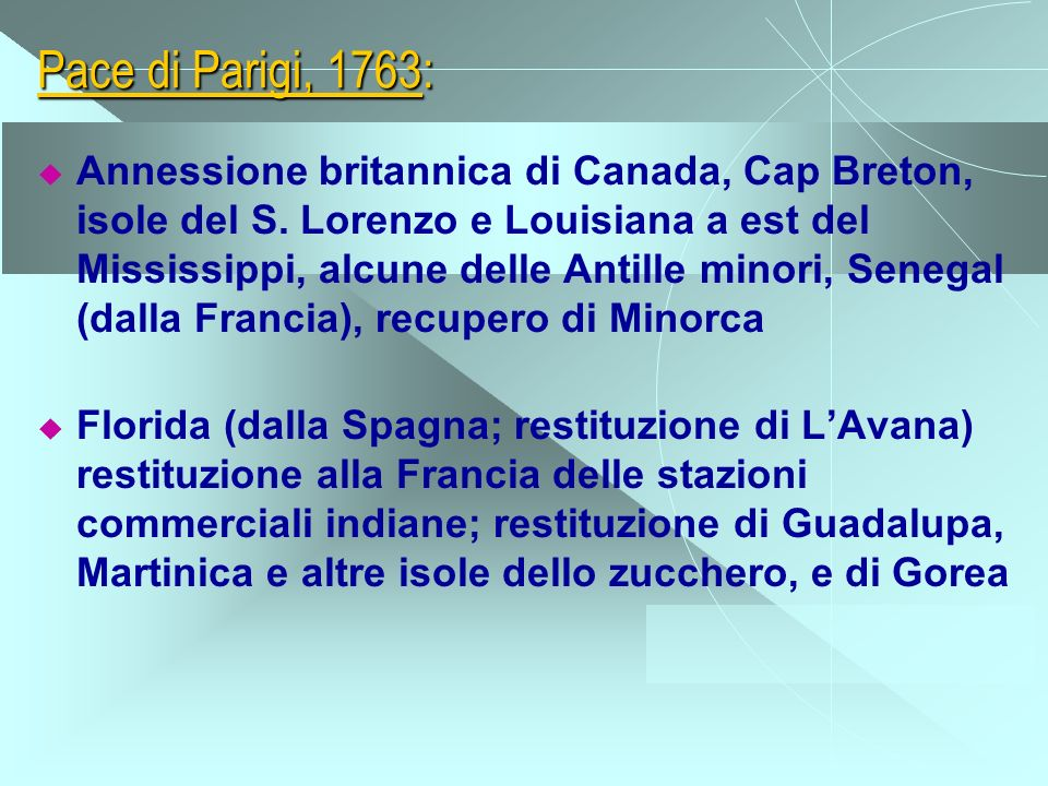 Pace di Parigi, 1763: