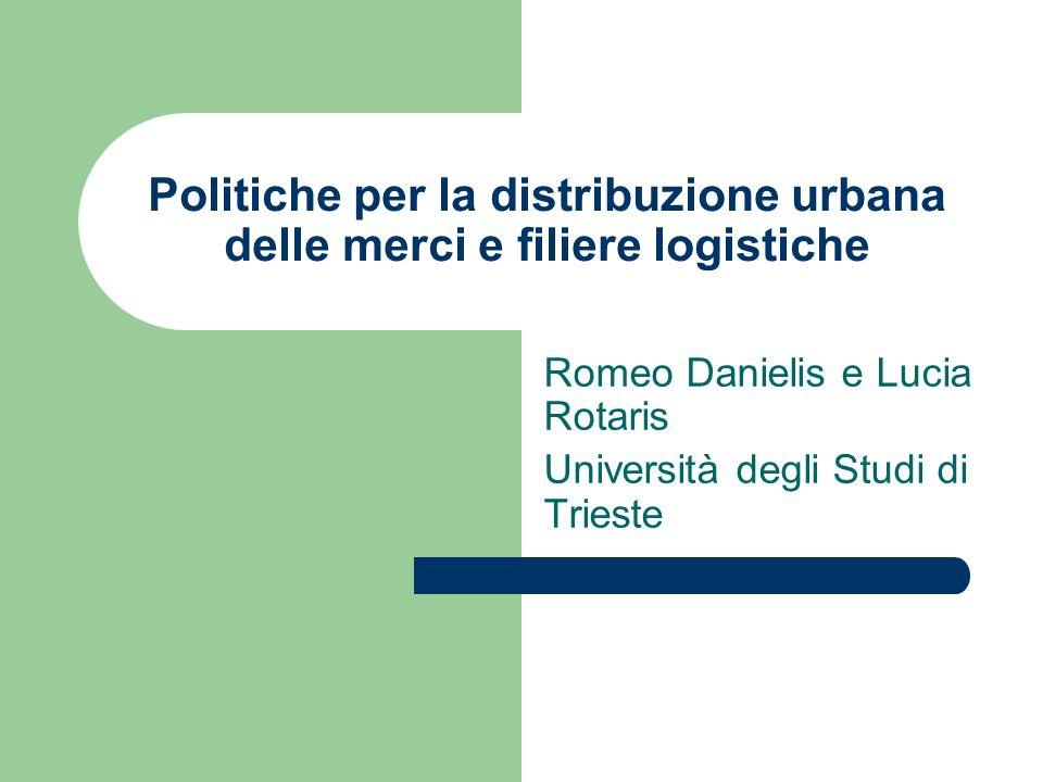 Politiche per la distribuzione urbana delle merci e filiere logistiche